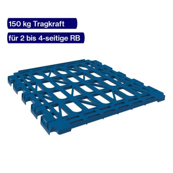 Blauer Etagenboden für Rolli