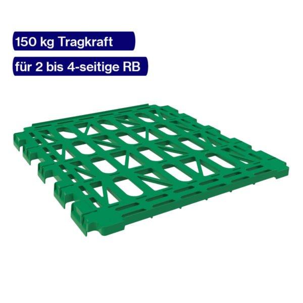 Etagenboden grün für Rollwagen