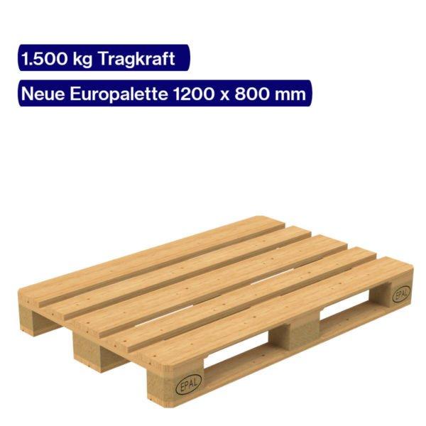 Fabrikneue Europalette 1200 x 800 mm