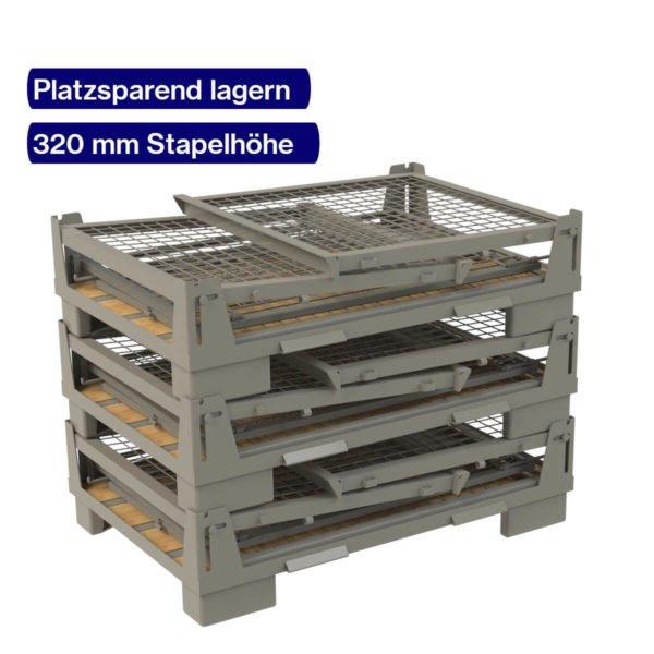 Gitterbox faltbar - platzsparend stapeln