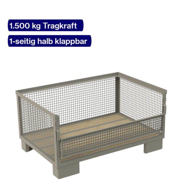 Gitterbox halbhoch mit einer klappbaren Seite