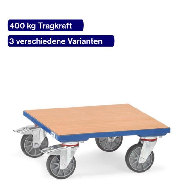 Kistenroller 400 kg mit Holzboden