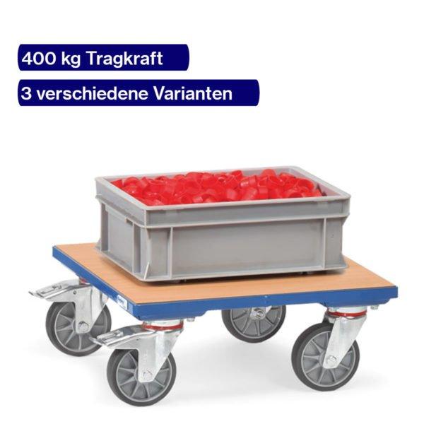 Kistenroller 400 kg mit Holzboden und Kiste
