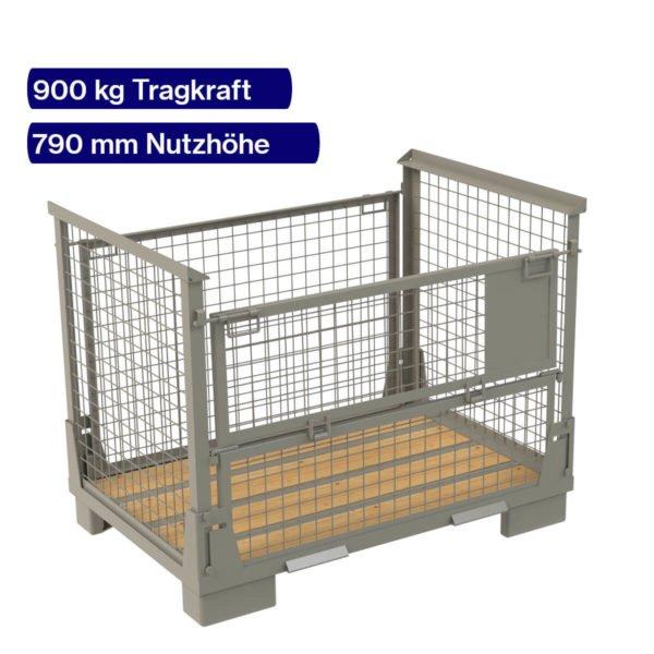 Klappgitterbox - 900 kg - 790 mm Nutzhöhe