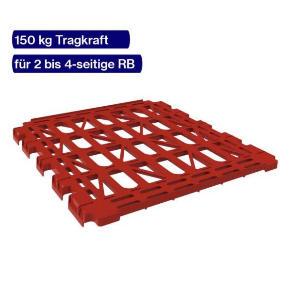 Roter Kunststoffzwischenboden für Rollwagen