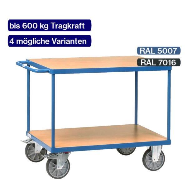 Schwerer Tischwagen bis 600 kg mit wählbarer Farbe