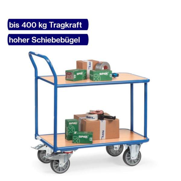 Tischwagen 400 kg beladen