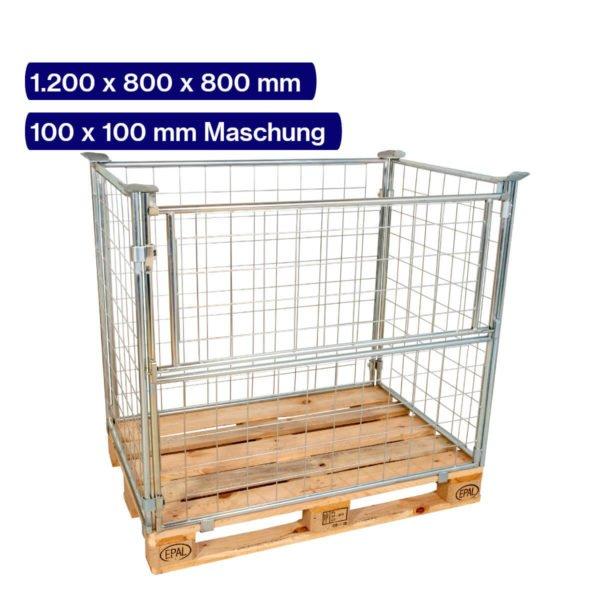 Gitteraufsatzrahmen verzinkt 800 mm mit 100 x 100 mm Maschen
