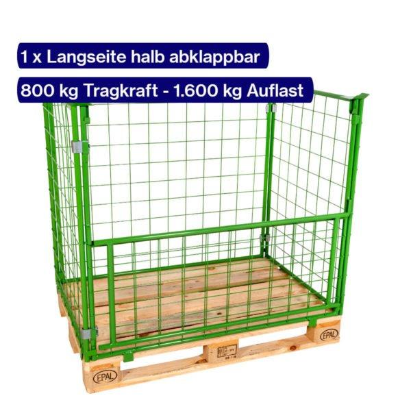 Gitter-Aufsatzrahmen 1000 mm mit offener Klappe