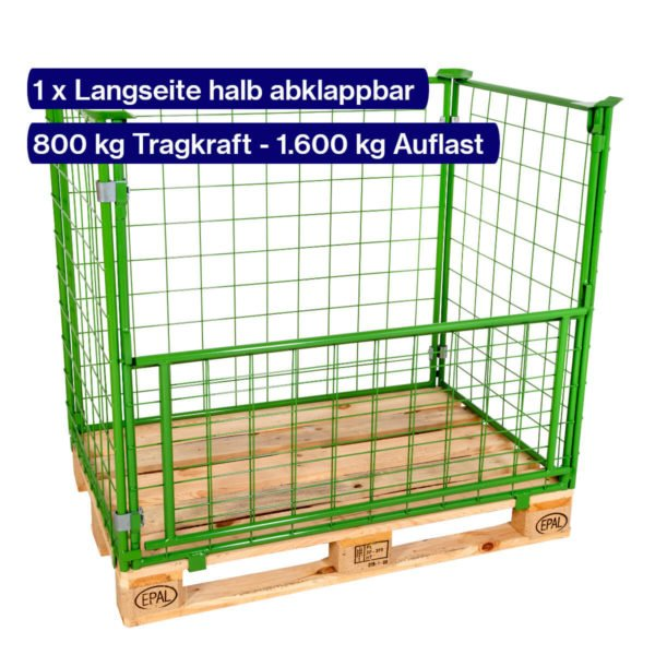 Gitter-Aufsatzrahmen 1200 mm mit offener Klappe
