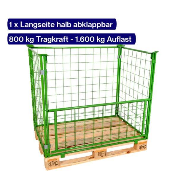 Gitter-Aufsatzrahmen 800 mm mit offener Klappe