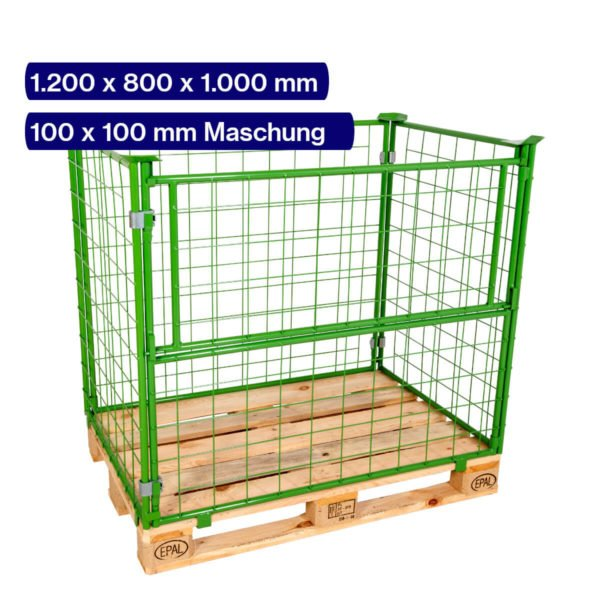 Gitteraufsatzrahmen 1000 mm mit 100 x 100 mm Maschen