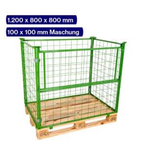Gitteraufsatzrahmen 800 mm mit 100 x 100 mm Maschen auf Europalette