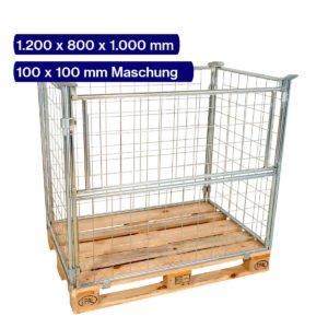 Gitteraufsatzrahmen verzinkt 1000 mm mit 100 x 100 mm Maschen