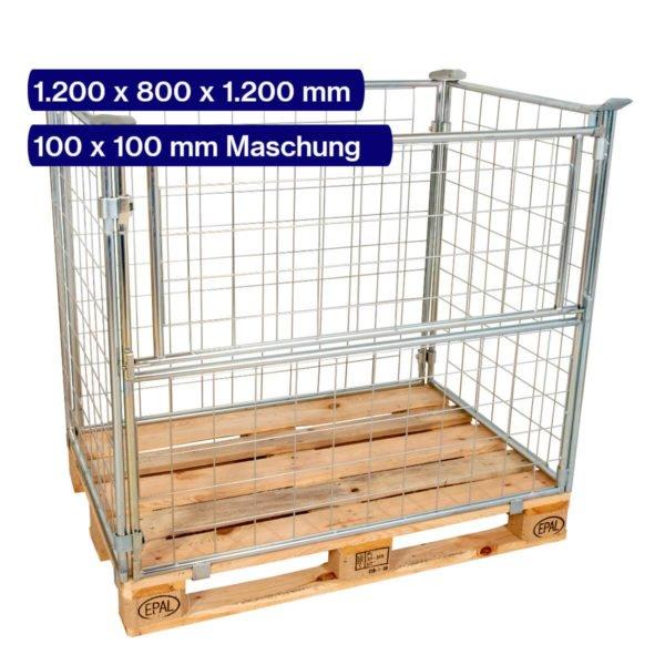 Gitteraufsatzrahmen verzinkt 1200 mm mit 100 x 100 mm Maschen