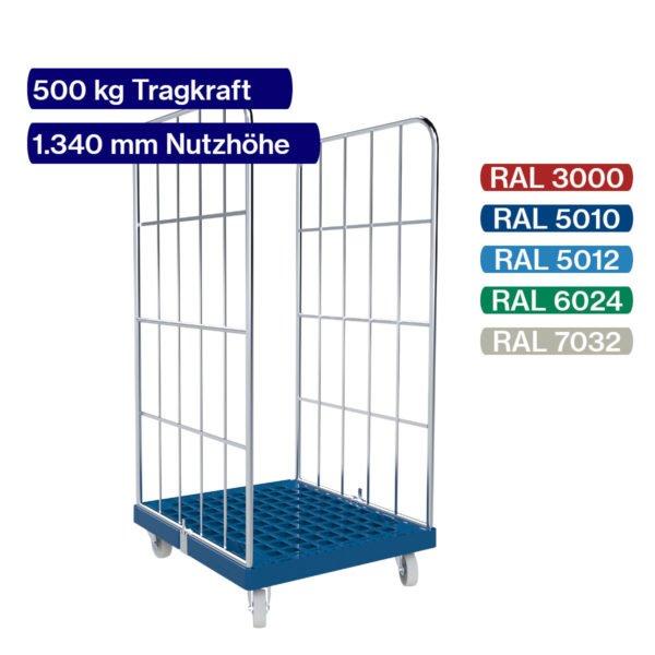 Rollbehälter mit 500 kg - 2 seitig - 1350 mm