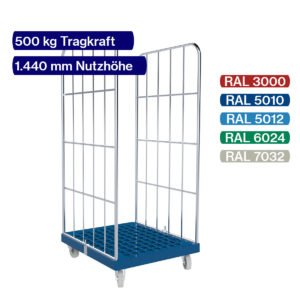 Rollbehälter mit 500 kg - 2 seitig - 1450 mm