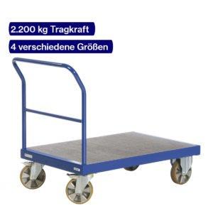 Schwerlast Plattformwagen mit 2200 kg Tragkraft