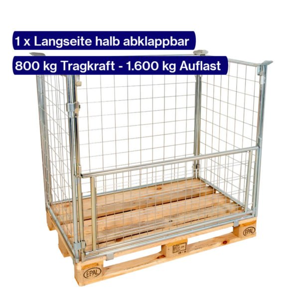 Verzinkter Gitter-Aufsatzrahmen 1000 mm mit offener Klappe