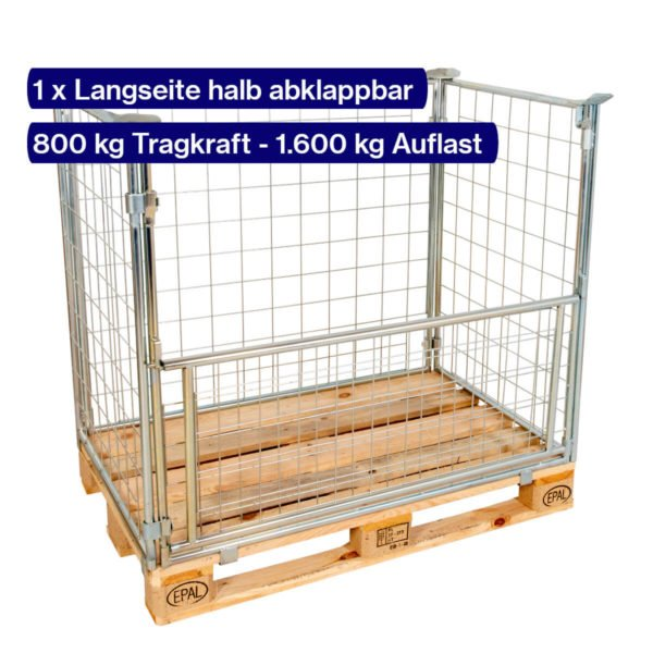 Verzinkter Gitter-Aufsatzrahmen 1200 mm mit offener Klappe