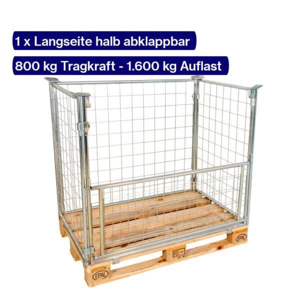 Verzinkter Gitter-Aufsatzrahmen 800 mm mit offener Klappe