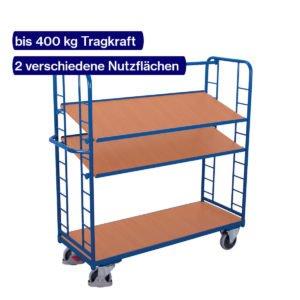 Etagenwagen mit 2 neigbaren Etagenböden