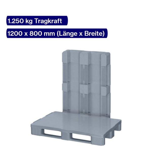 Leichte Hygienepalette mit 1250 kg Tragkraft