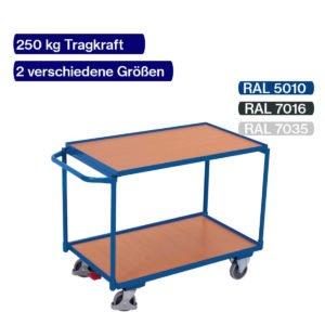 Tischwagen 250 kg - Farbe wählbar